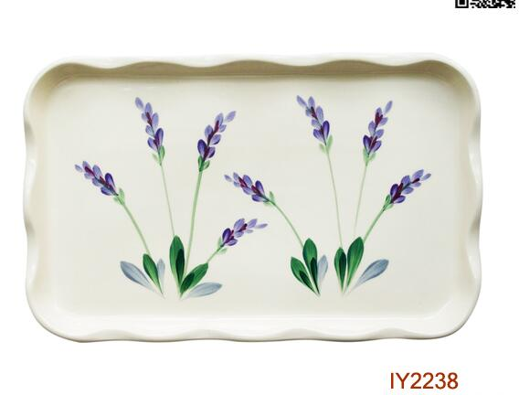 Hot Sale Rectangle Ceramic Plate With  Wavy Edge