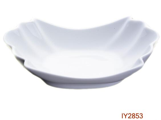 Ab Grade Eco-Friendly White Porcelain Plate