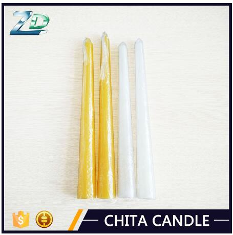 Custom fragrance cotton wick taper candle