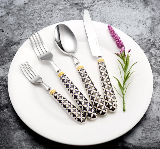 Stainless Steel Cutlery With Exquisite Design Ceramic Handle