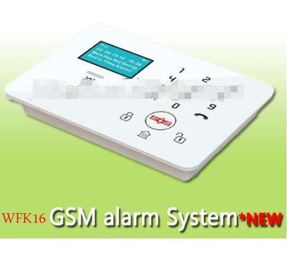 Multi-languages Intelligent 3G home alarm system wireless with gas/CO/fire/smoke detector