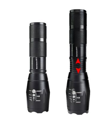 T9053-2 1000 Lumens Powerbank Rechargeable Self Defensive Tactical Led Torch Flashlight with USB