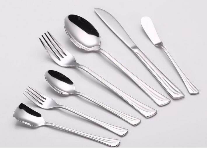 7 Pieces High Mirror Polish Stainless Steel Cutlery