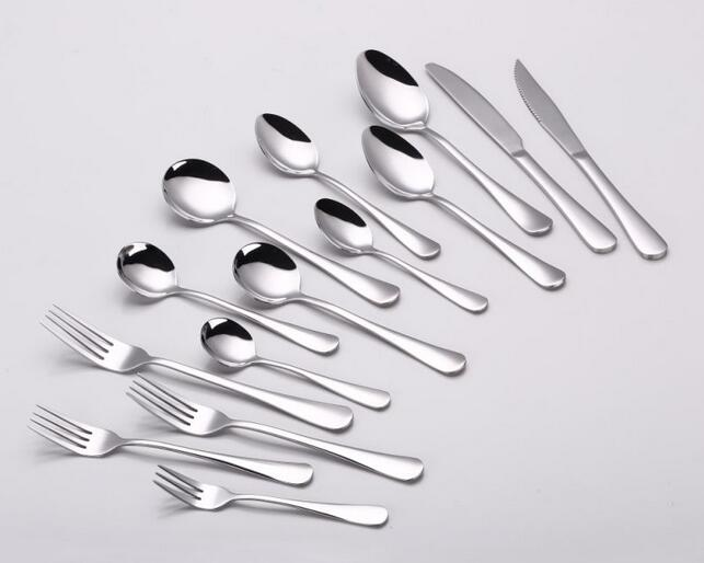 14 pc Stainless Steel Cutlery Set with Mirror Polish