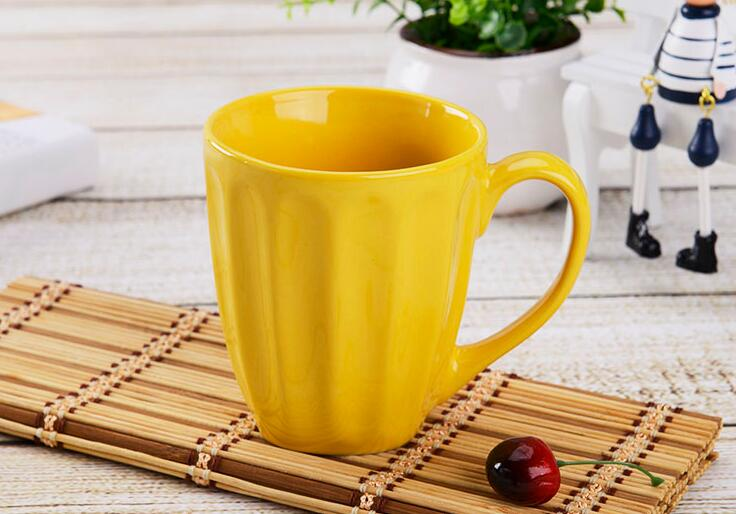 Solid Color Large Size Ceramic Coffee Mugs