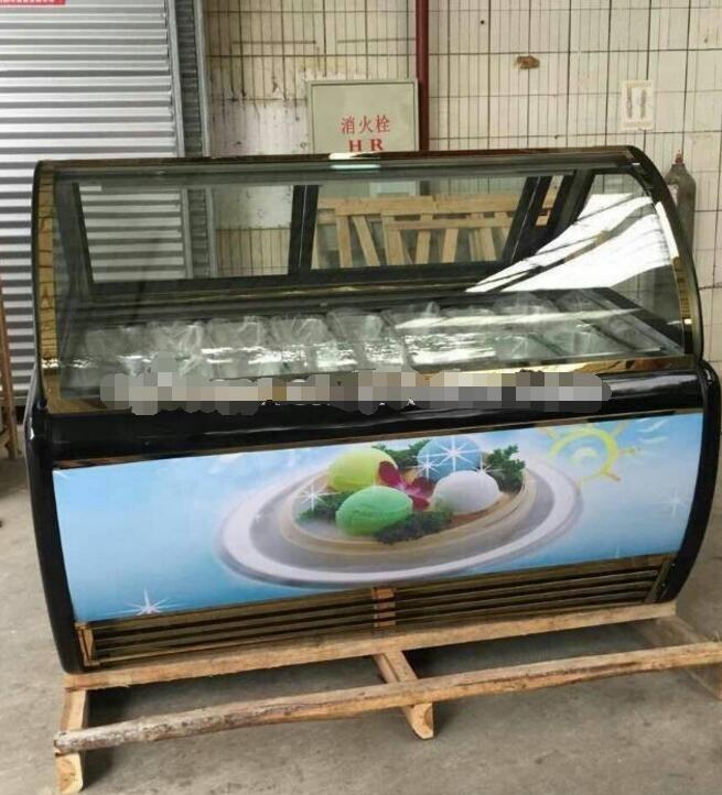 commercial ice cream showcase freezer