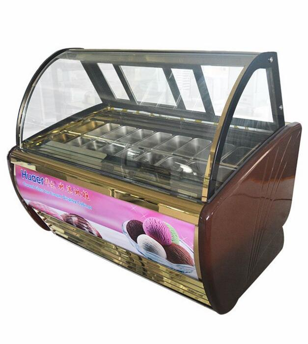 Made in China showcase ice cream display freezer Table top used popsicle display/ Dipping Ice Cream Cabinet Freezer