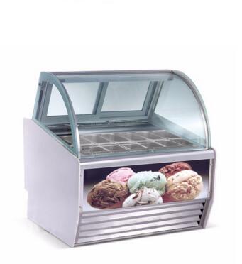 Hot sale Fan cooling ice cream freezer -25-0 degree gelato display case
