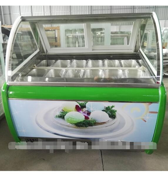 Commercial 12 Pcs GN 1/3 Pan Ice Cream Display Freezers With Factory Price