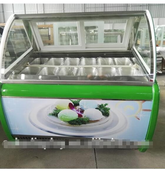 Scoop Ice Cream Cabinet Refrigerated Ice Cream Display Cabinet