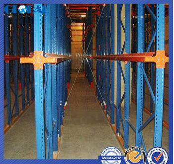 powder coated warehouse drive in rack/drive in racking for warehouse