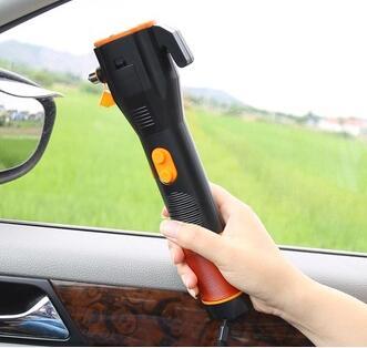 Car Emergency Escape Hammer power generate swing emergency flashlight suppliers