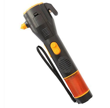 China Wholesale multifunctional rechargeable emergency flashlight With Emergency Hammer