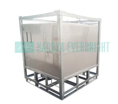 2000 liter stainless steel center drain storage ibc tanks