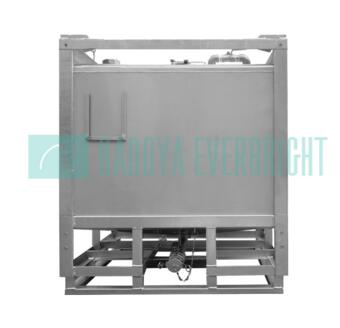 Stainless steel chemical ibc totes with frame