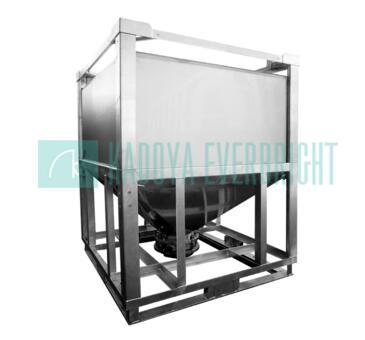 1000L powder used stainless steel hopper bottom IBCs