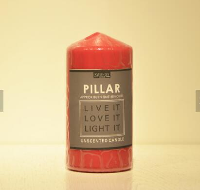 Luxury Custom Paraffin Wax Pillar Candle