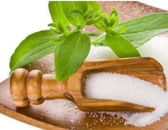 stevia sugar powder used as flavoring enhancer for chocolate