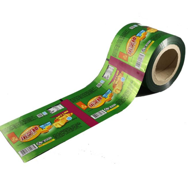 Laminated food grade flexible plastic packaging film material /plastic foil packaging roll
