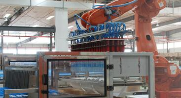 Robot encasing machine