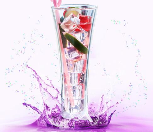 Customized size durable crystal drinking glass
