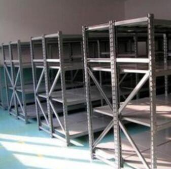Customized trade show perforated metal shelving