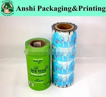 Laminated plastic package film roll gravure printing handling PET/PE laminating film roll for food packaging
