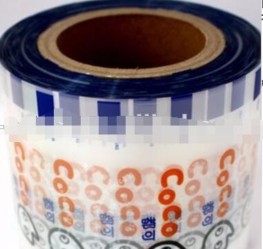 Customized Printed semi-automatic packing film heat seal clear plastic boba/bubble tea cup sealing film for PP PS PE PET cup