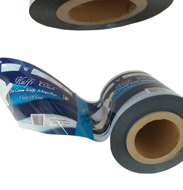 Printed laminated plastic food grade pet/pe packaging film
