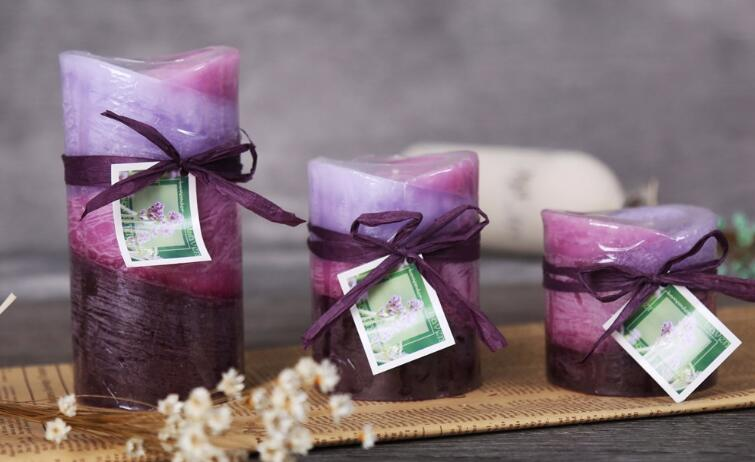 Private Label Scented Flower Shape Pillar Candle