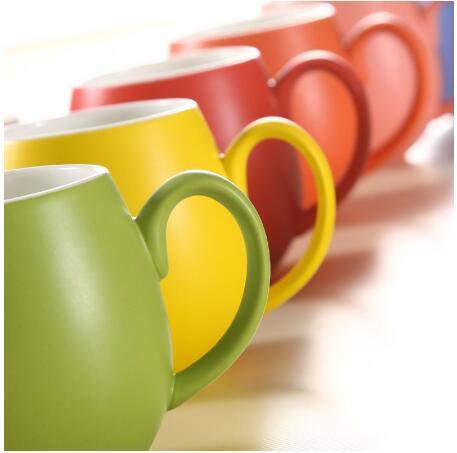 380ml Matt Color Glaze Finished Ceramic Mugs