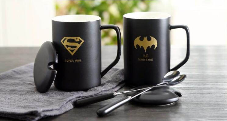 14oz Fancy Logo Decal Coffee Mugs With Lids