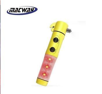 Factory Car Seat Safety Belt Cutter Emergency Flashlight Glass Hammer