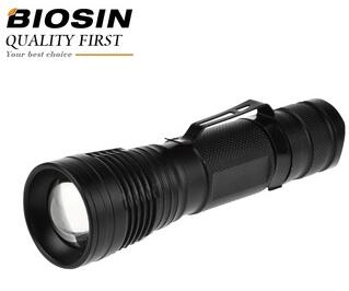 Best selling 4 hours at full power 800lumen aluminum alloy XML T6 rechargeable flashlight