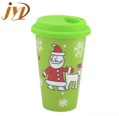 280cc coffee travel beautiful christmas  ceramic mug