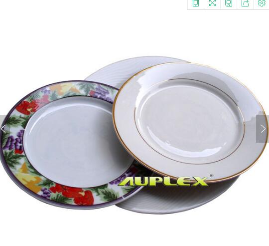 Sublimation ceramic plate with pattern on the edge