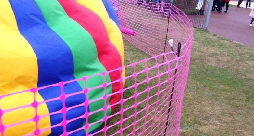Pink Barrier Fencing Mesh