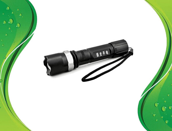 Focusing light waterproof flashlight