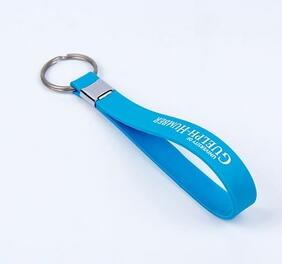High level lanyards soft no deformation silicone key ring