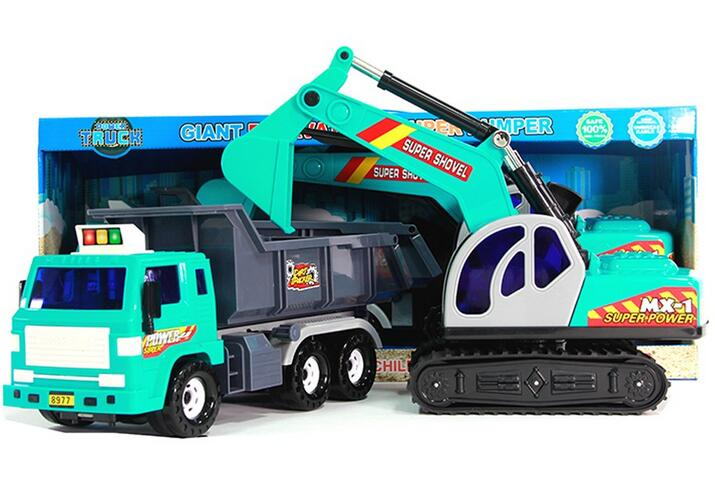 New big excavator toy sand digging truck toy digging machine and Super Skip/Soil Digging Machine