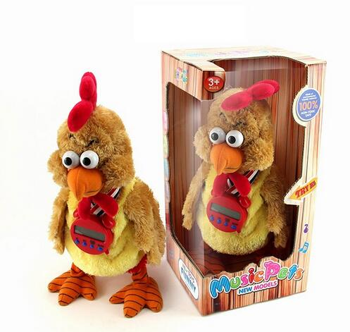 The newest popular music toy rooster