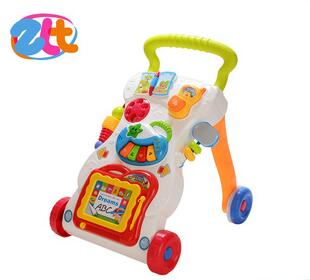 Hot selling happy player intelligence plastic musical baby walker