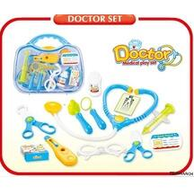 12PCS KIDS DOCTOR COSPLAY EUDCATIONAL DIY PLAY TOY KITS, PLASTIC TOY DOCTOR KIT