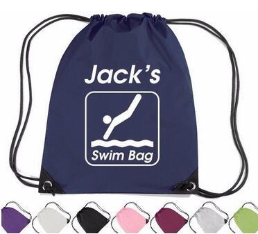 Personalized Waterproof Swimming Drawstring Bag