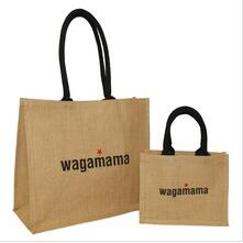 screen printing jute tote bag