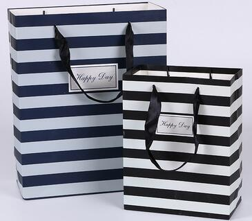 high quality stripe paper bag