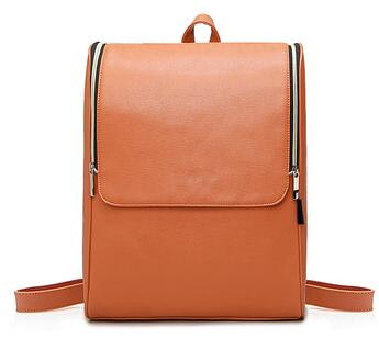 waterproof new college bag leather backpack with simple design