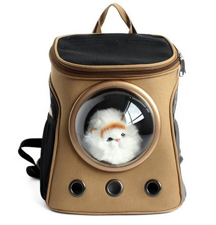 Space Capsule Shaped Pet Carrier Breathable Backpack