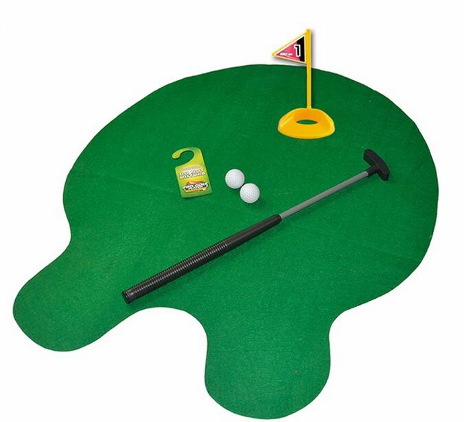indoor activity learning golf plastic toilet toy for sale