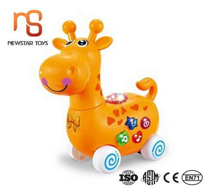 Trending hot sales wholesale music electricity toy bulk plastic deer for kids